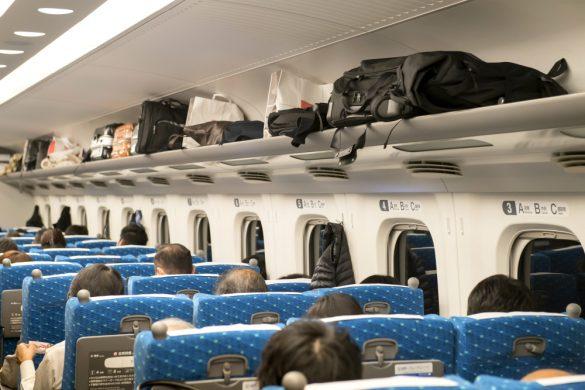 帰省、新幹線、列車の旅