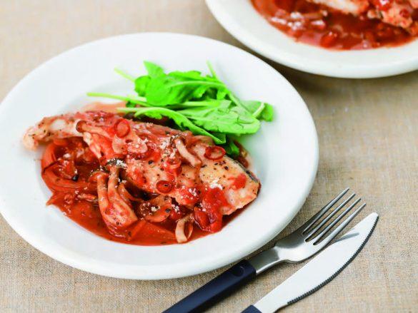 たらのピリ辛トマト煮