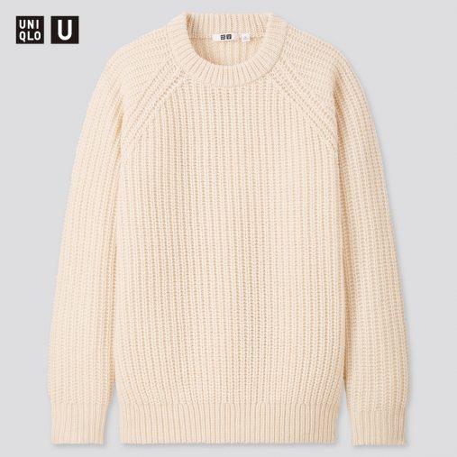 ライトウェイトローゲージクルーネックセーター MEN 1,990円(税別)