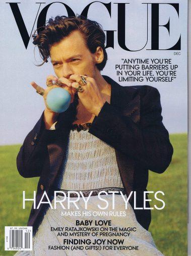 ハリーが表紙を飾った米VOGUE誌<2020年12月号> (※画像:Amazonより)