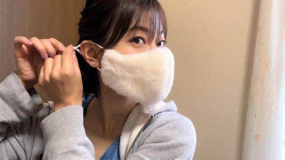 耳掛け部分のゴムの長さを調節できる