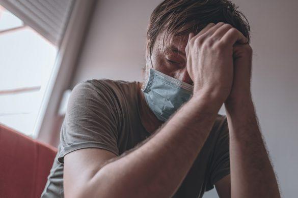 息苦しい男性