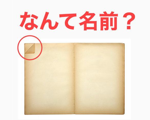 """<なんて名前?>本や雑誌の""""角を折った部分""""の名前知ってる?"""