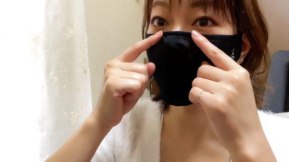 鼻の部分のワイヤーを押さえて隙間ができないように