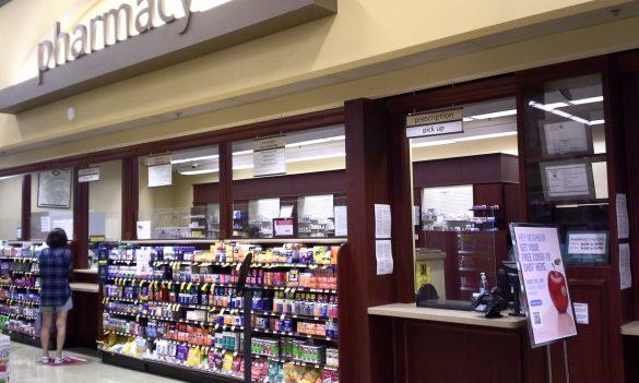 スーパーマーケット内の薬局でもクチン接種を行っています