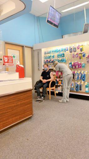 アメリカ東海岸でのワクチン接種