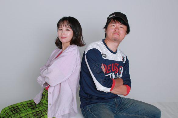 (左)清野菜名さんと(右)中元雄監督